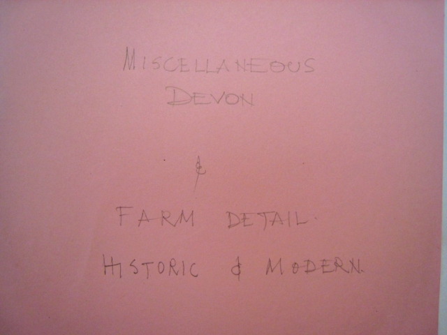 APM Miscellaneous Devon and Farm Details Historic and Modern title page