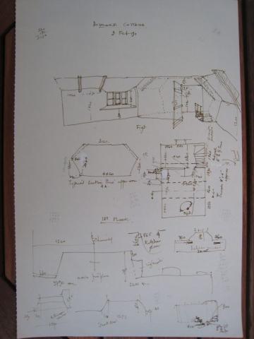 plan with dimensions of Bidlake Cottage, Germansweek
