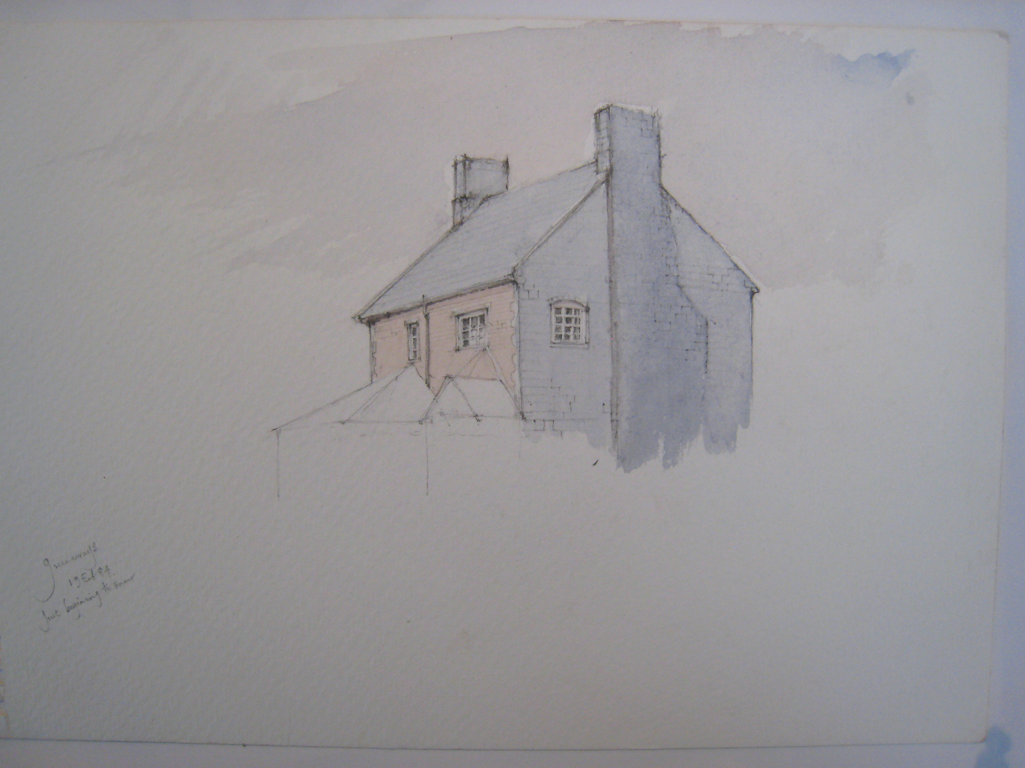 part drawing Bovey Farm house, Germansweek