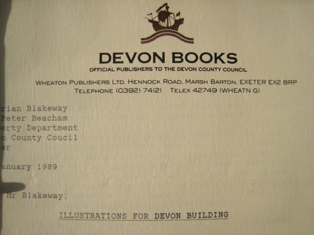 Devon Building letter