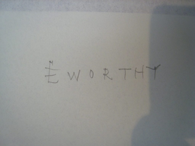 Eworthy, written by Brian Blakeway