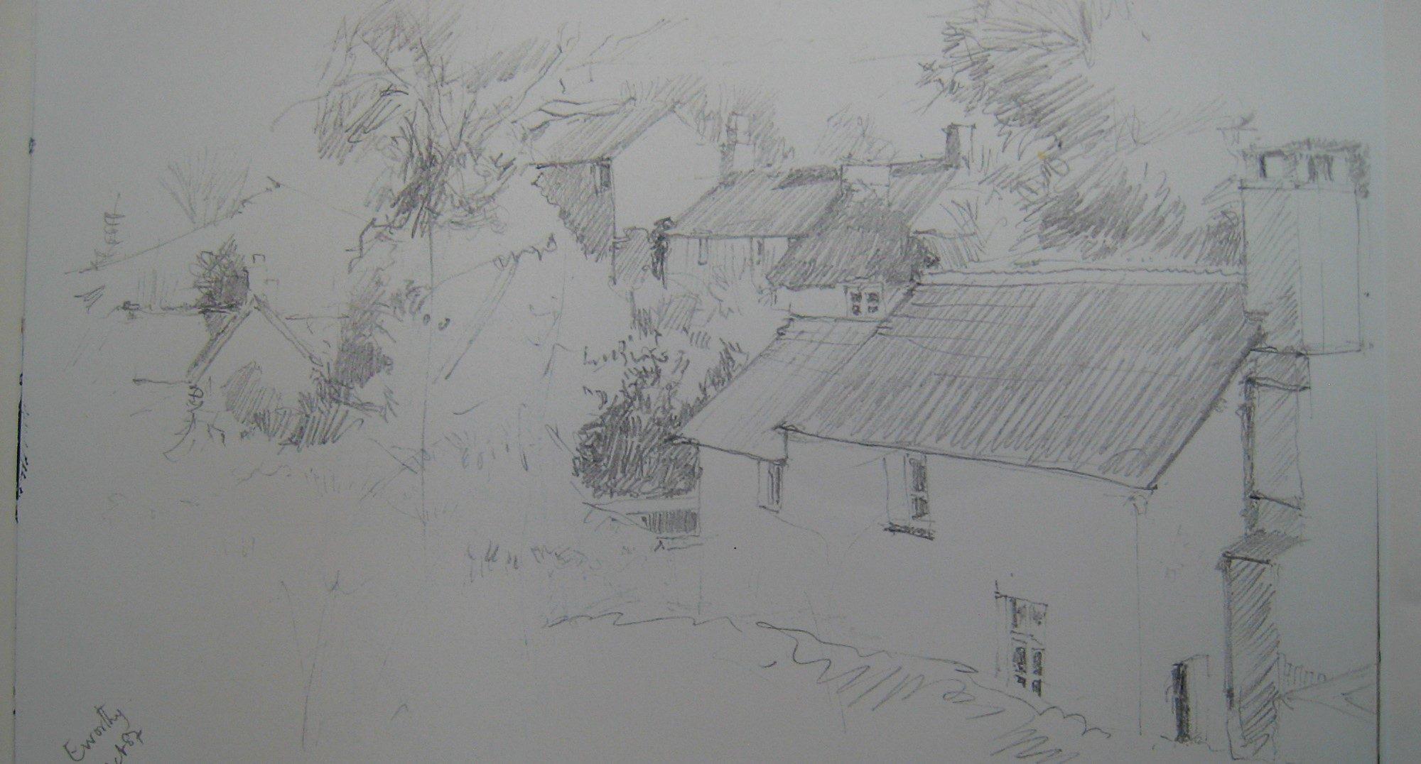 drawing of Eworthy hamlet