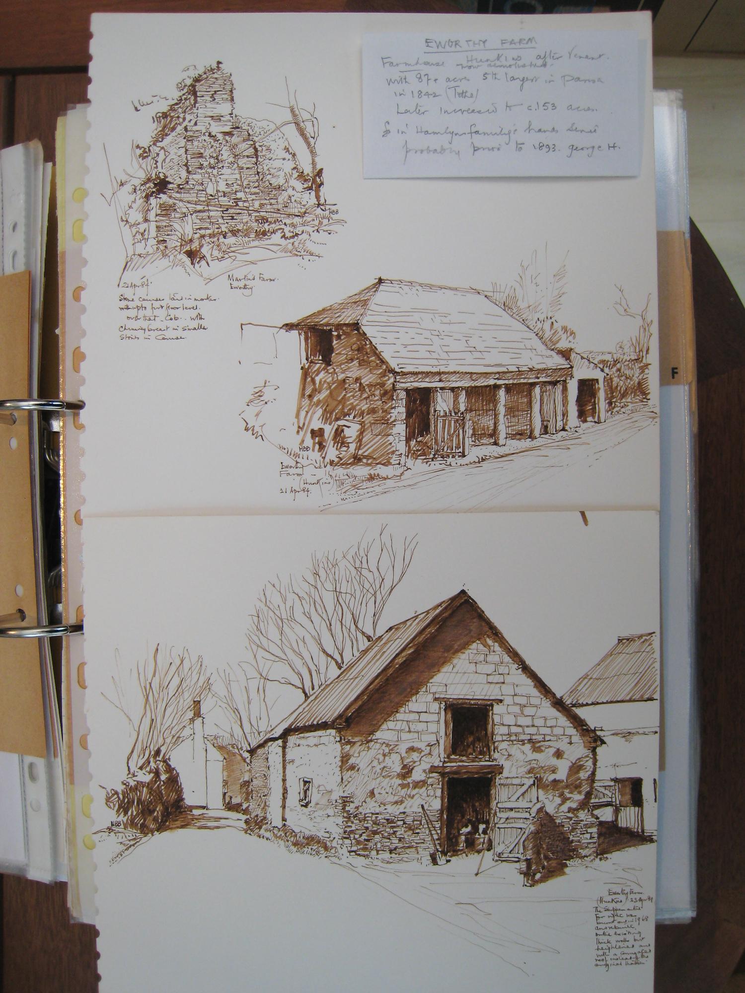 Eworthy Farm, drawings 1984