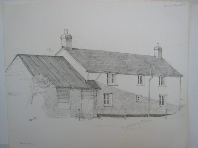Eworthy: Greenfield Cottage, drawing 1984