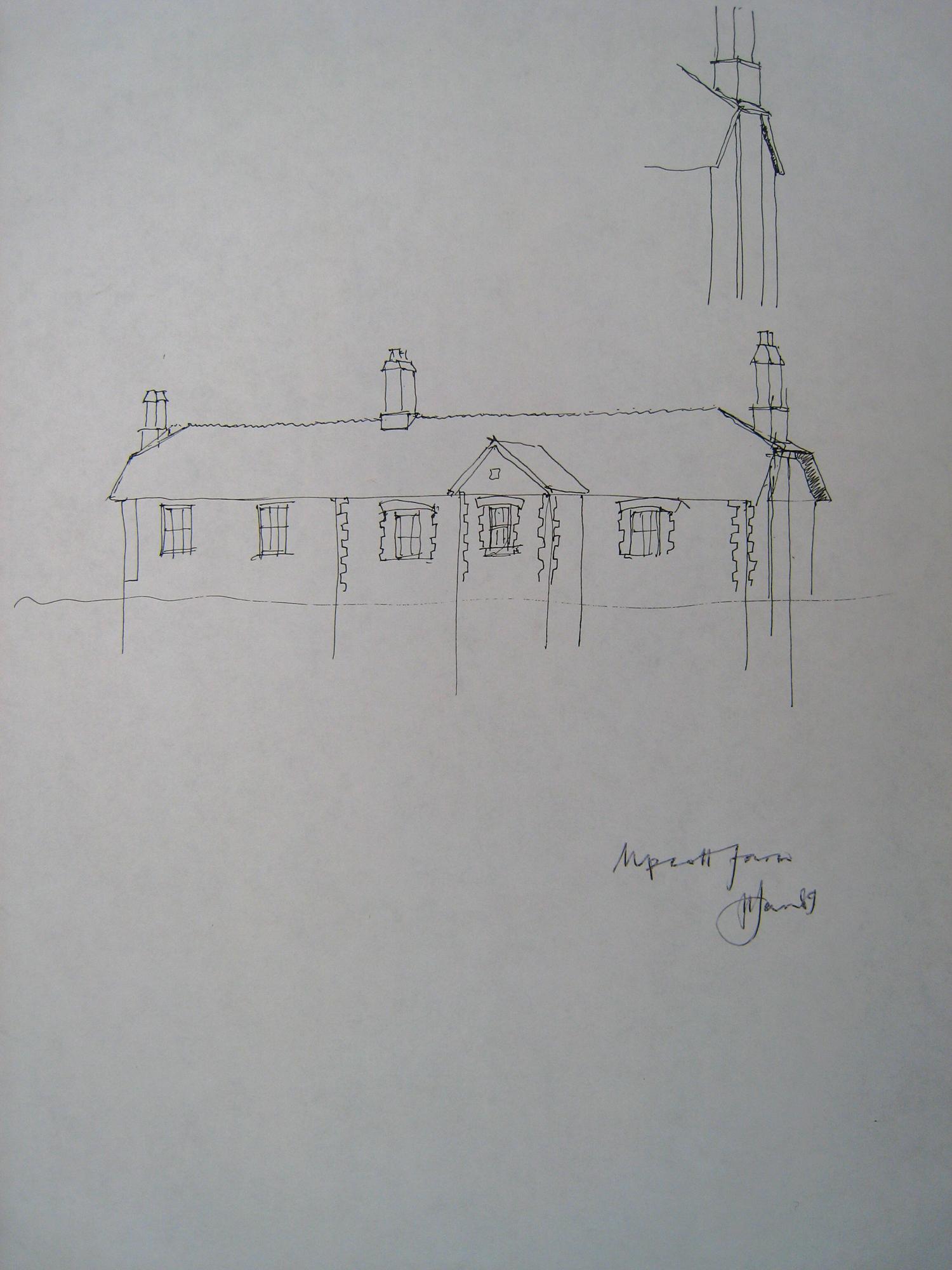 Upcott  Farm sketch