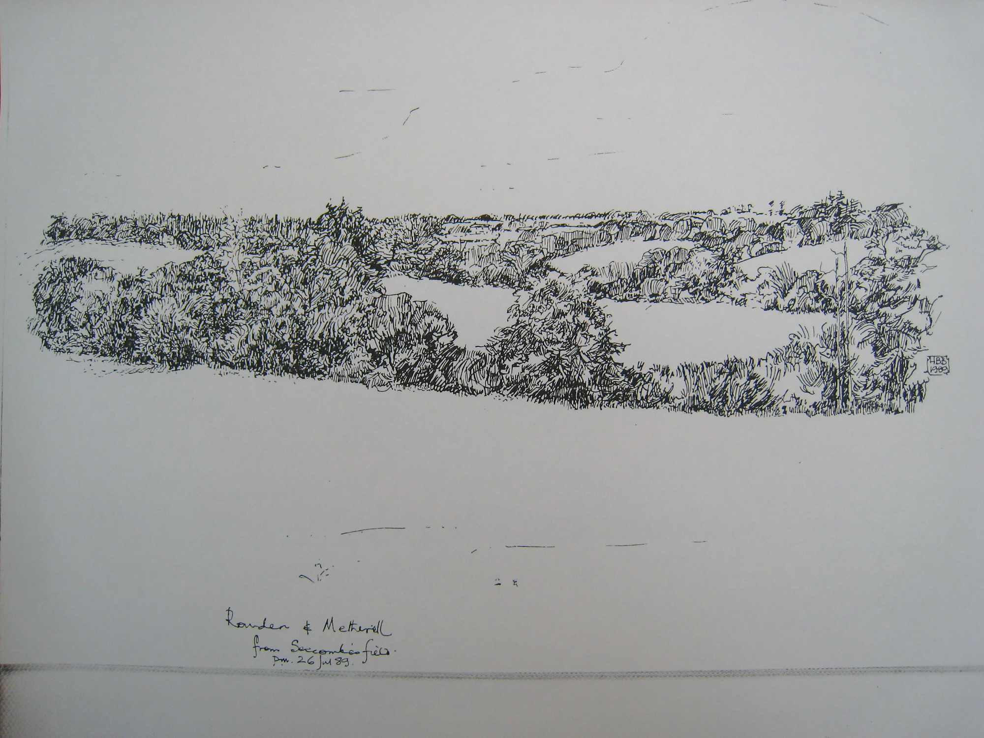 Germansweek landscapes, Rowden and Metherell from Seccombe's field