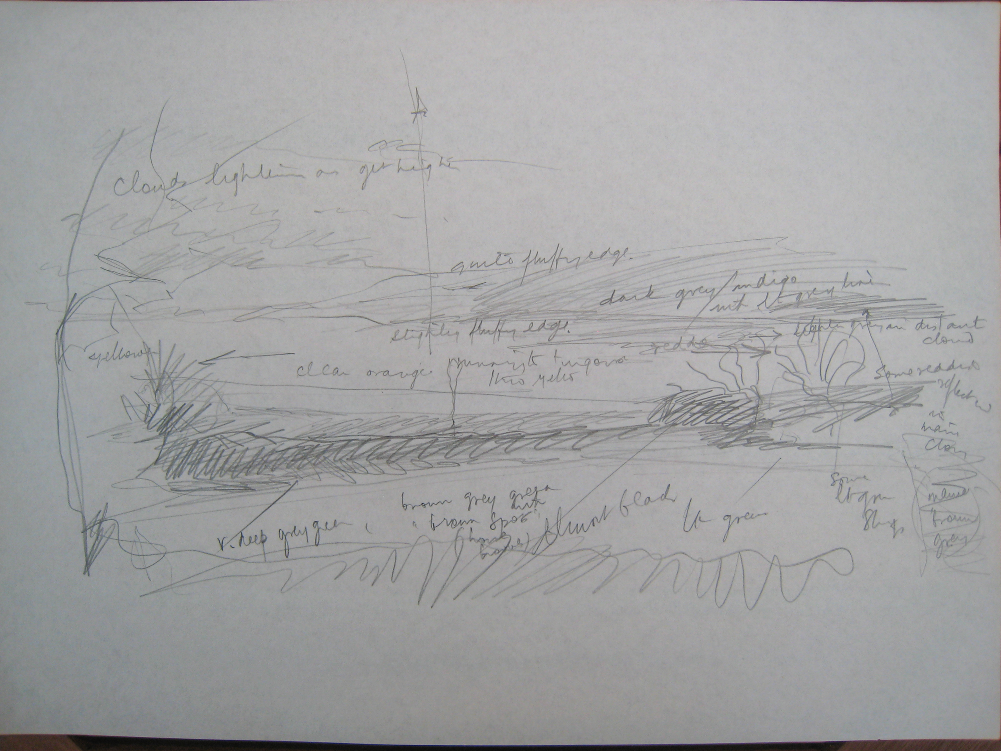Germansweek landscapes, annotated sketch