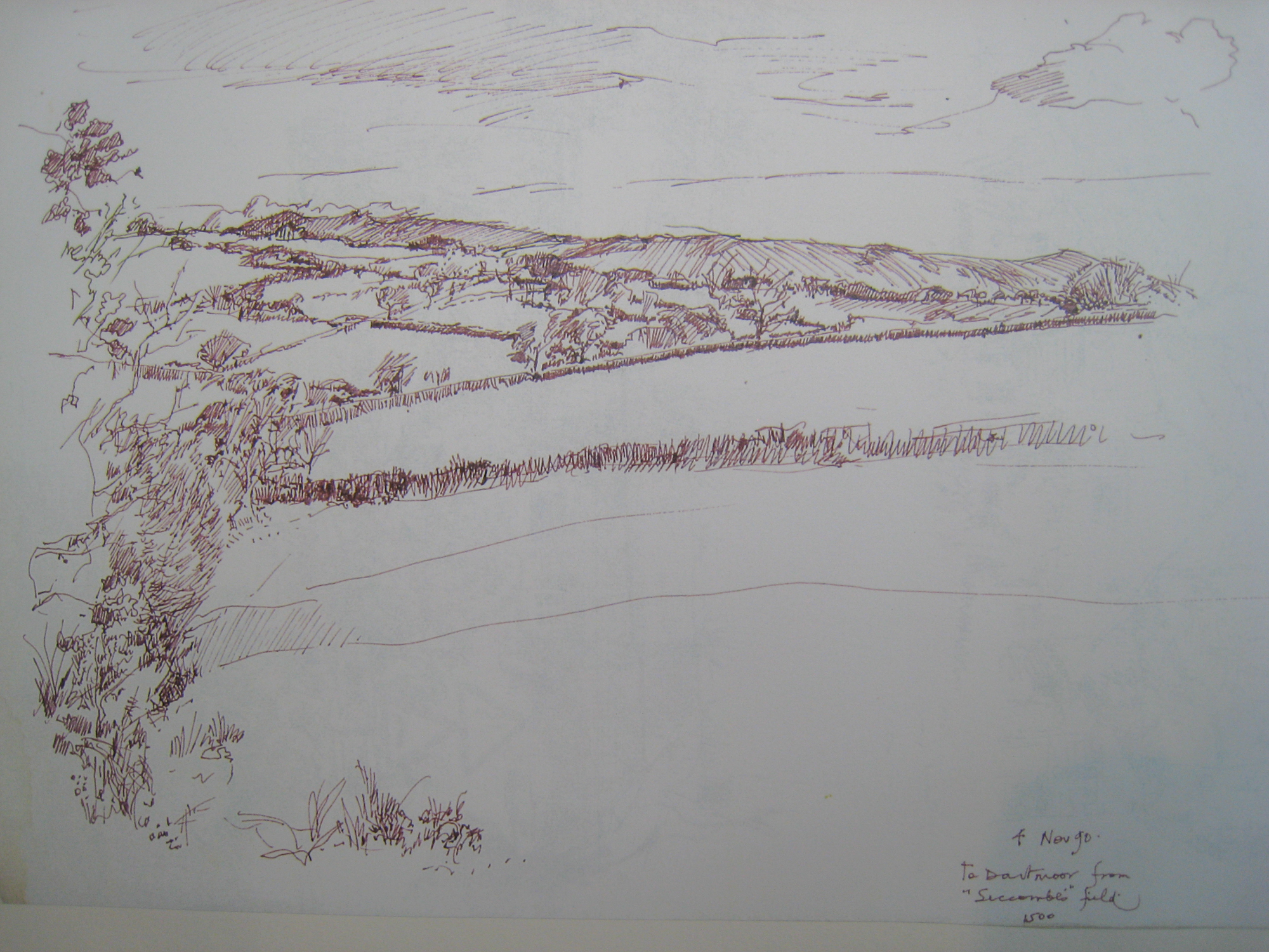 Germansweek landscapes, to Dartmoor from Seccombe's field area