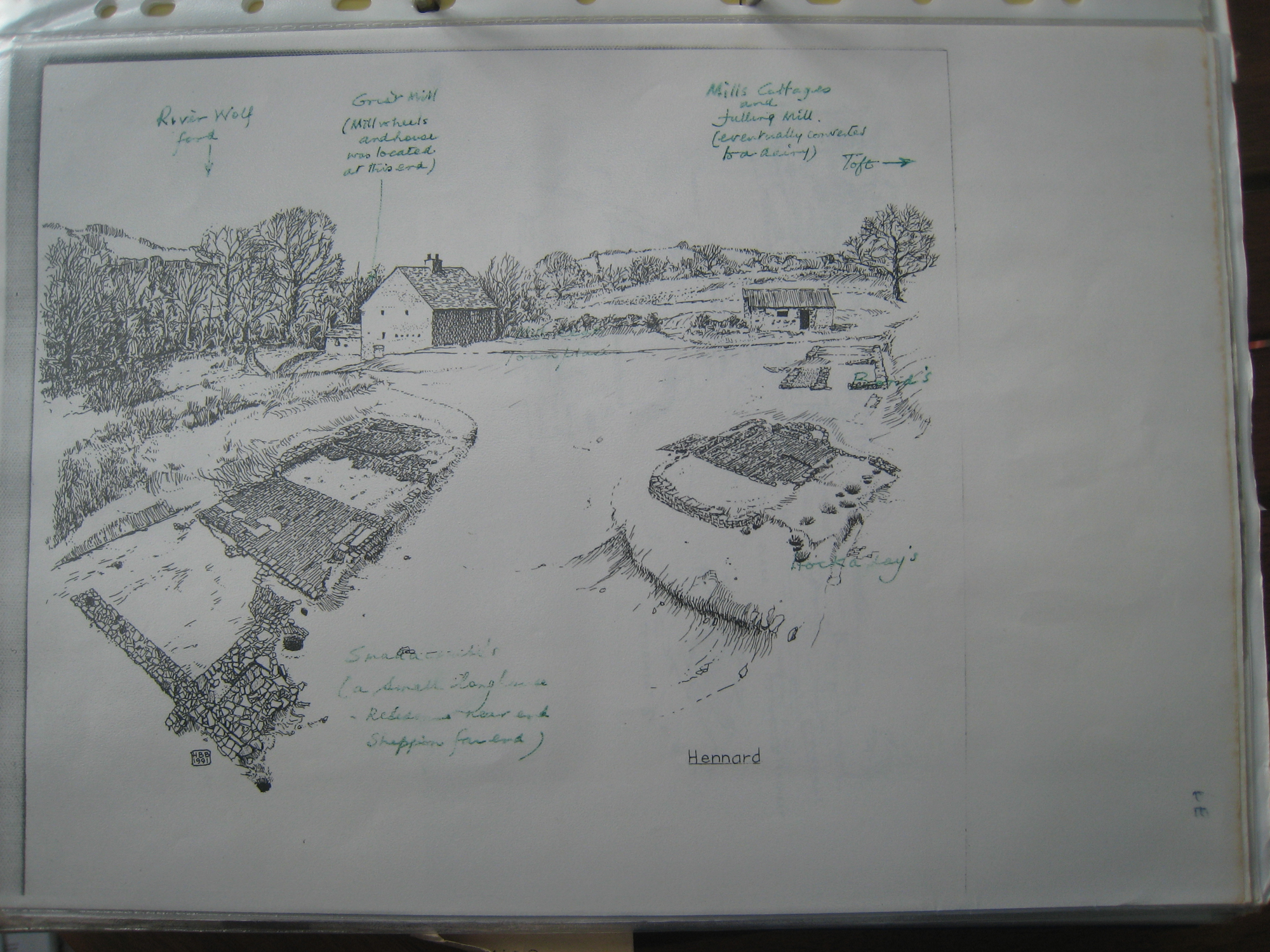 A second drawing of Hennard Mill develops: comments on first draft 1