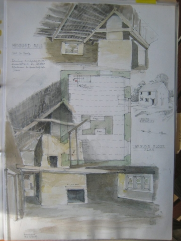 Hennard Mill plan and paintings