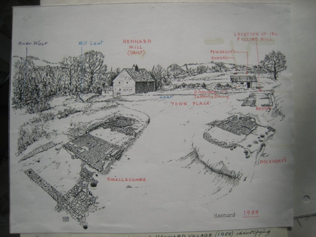 A second drawing of Hennard Mill develops: comments on first draft 2