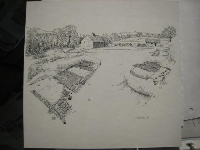 A second drawing of Hennard Mill develops: draft