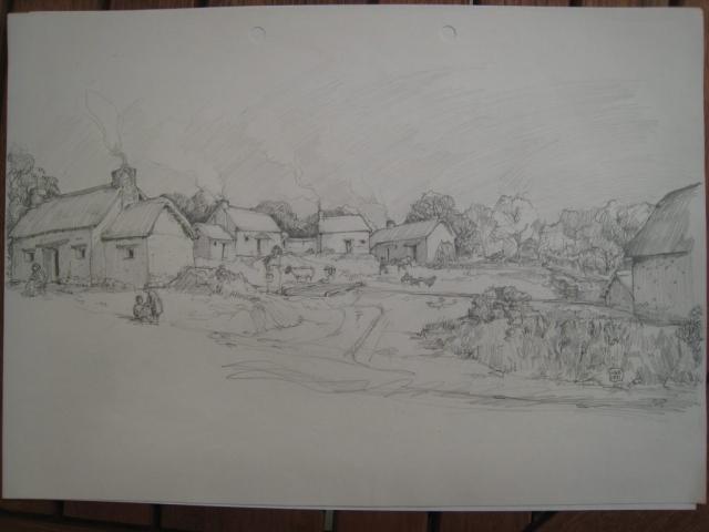 A drawing of Hennard Mill develops: first draft