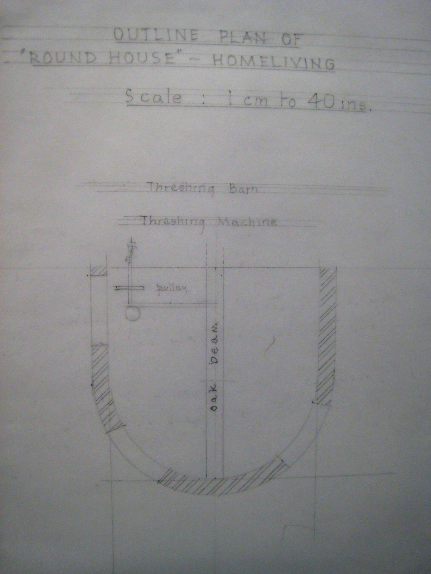 Homeliving: Roundhouse, outline plan