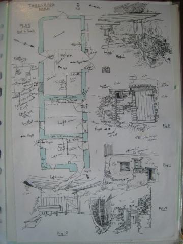 Homeliving: Threshing Barn, plan and drawings