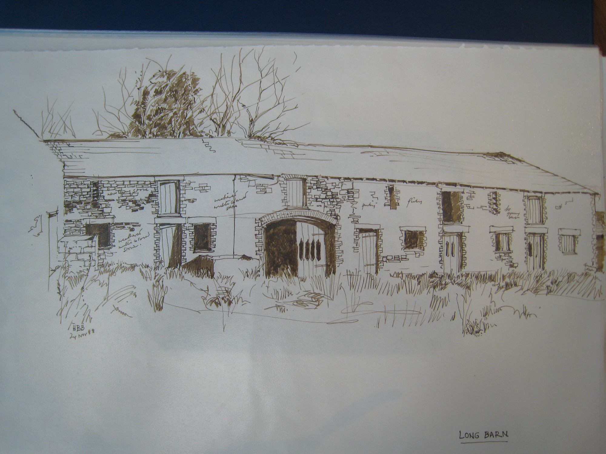 Homeliving: Long Barn, drawing