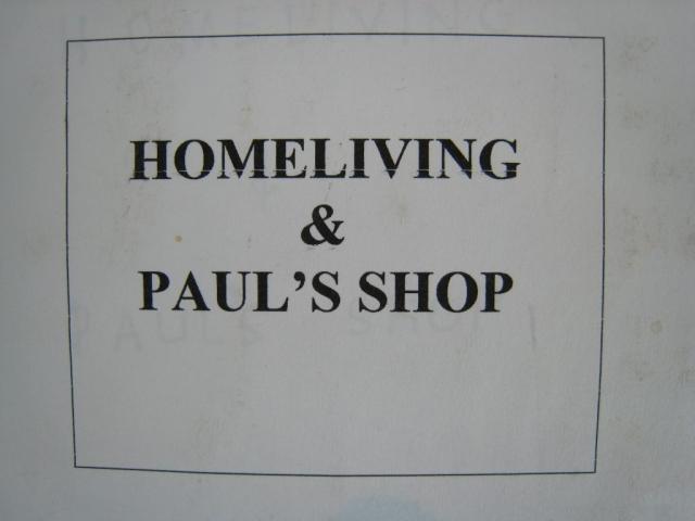 Homeliving & Paul's Shop - title slide