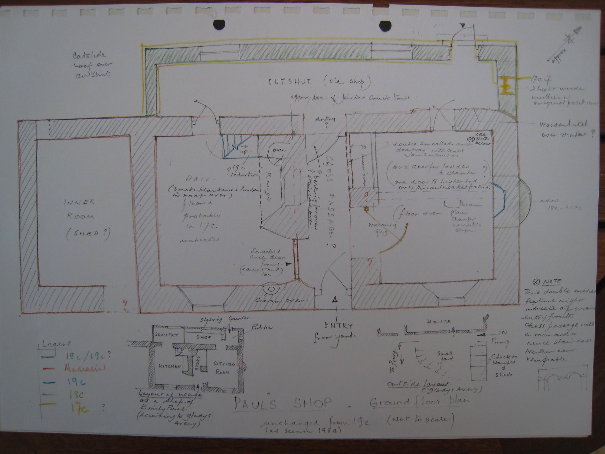Paul's Shop ground floor plan