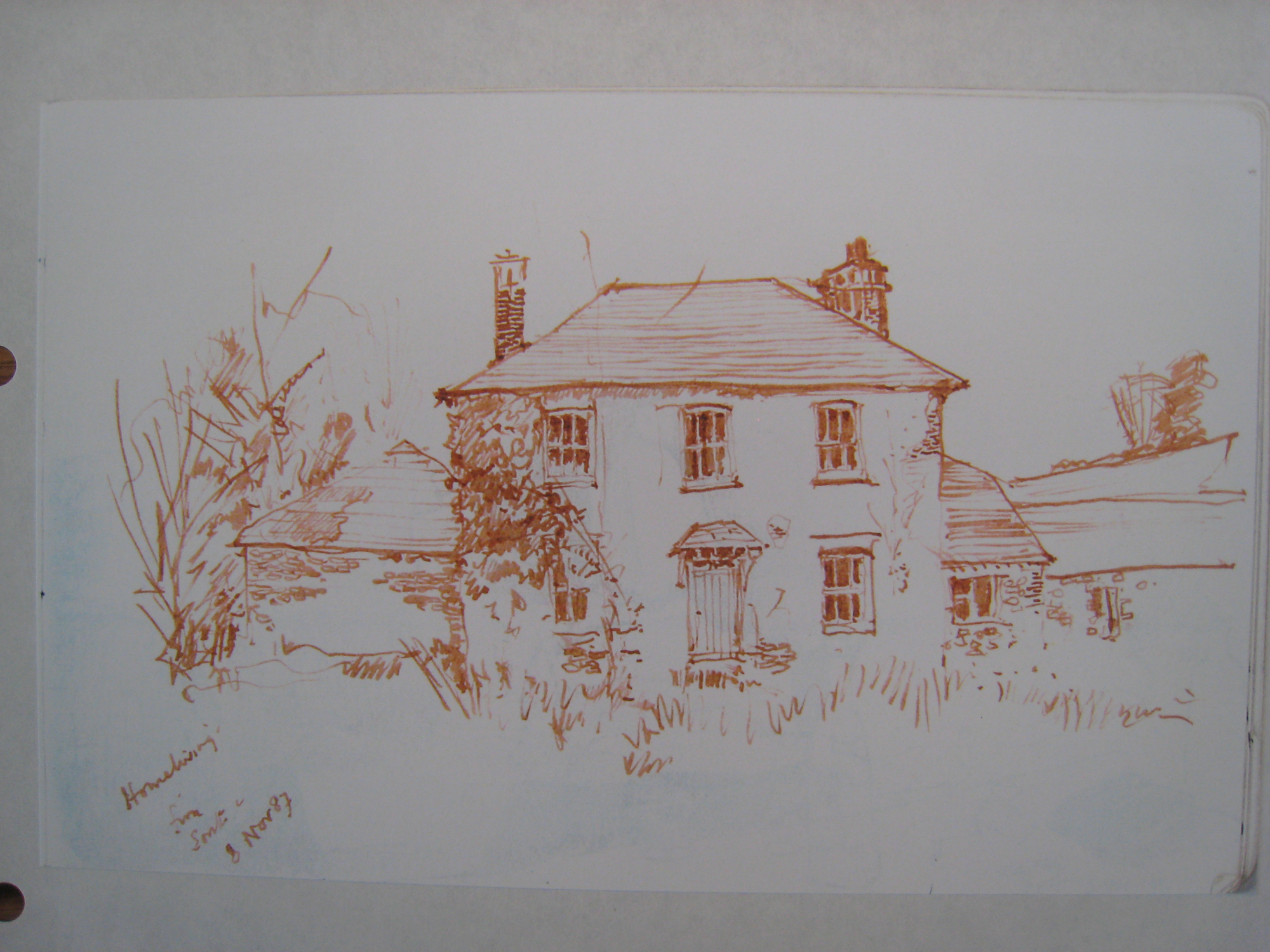 Homeliving house, drawing from front, 1987