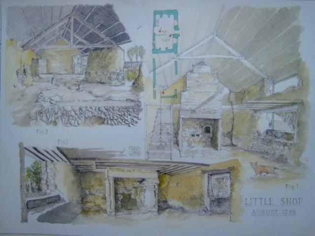 Little Shop: ground floor plan with three detail views