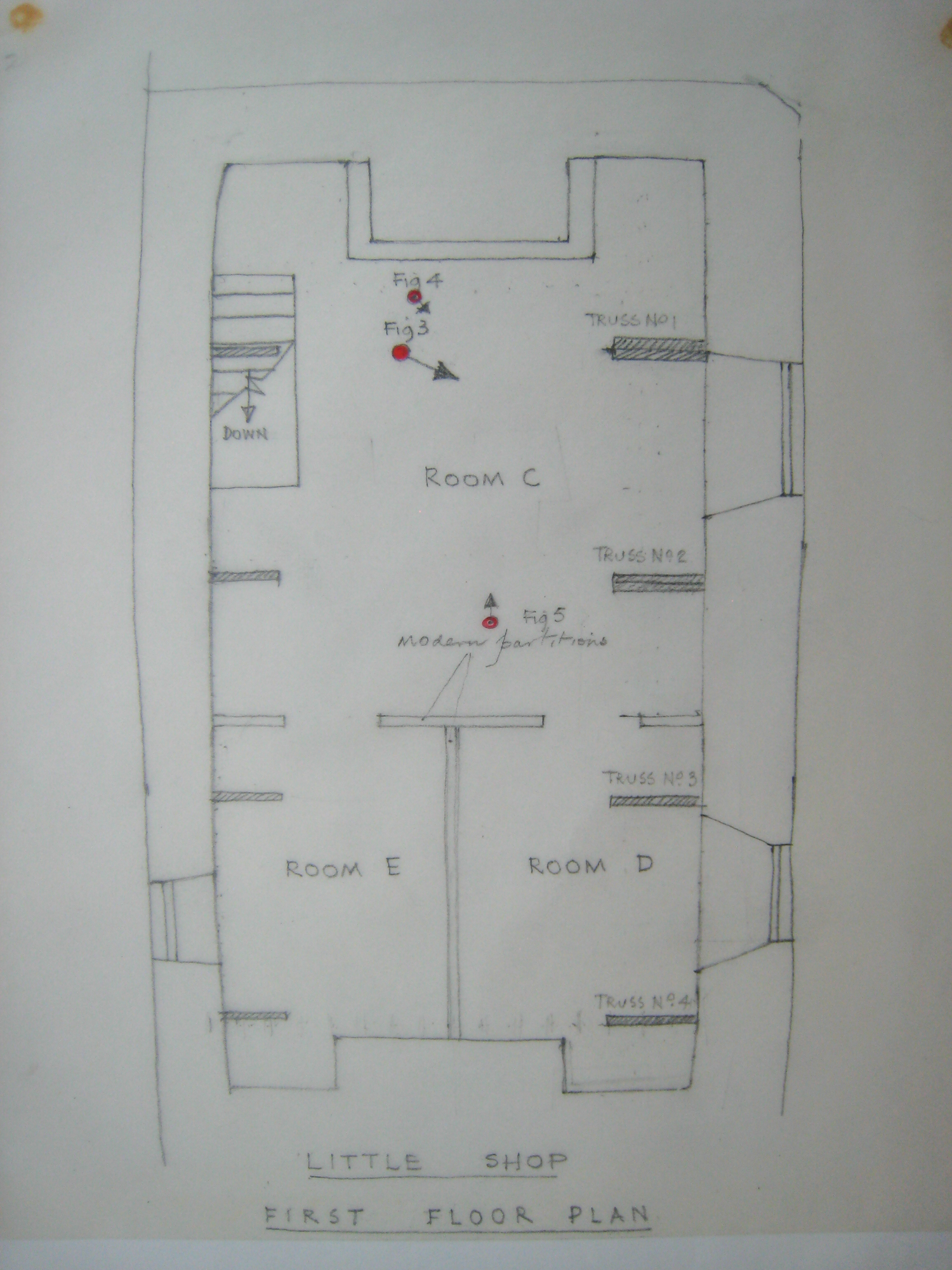 Little Shop: upstairs plan