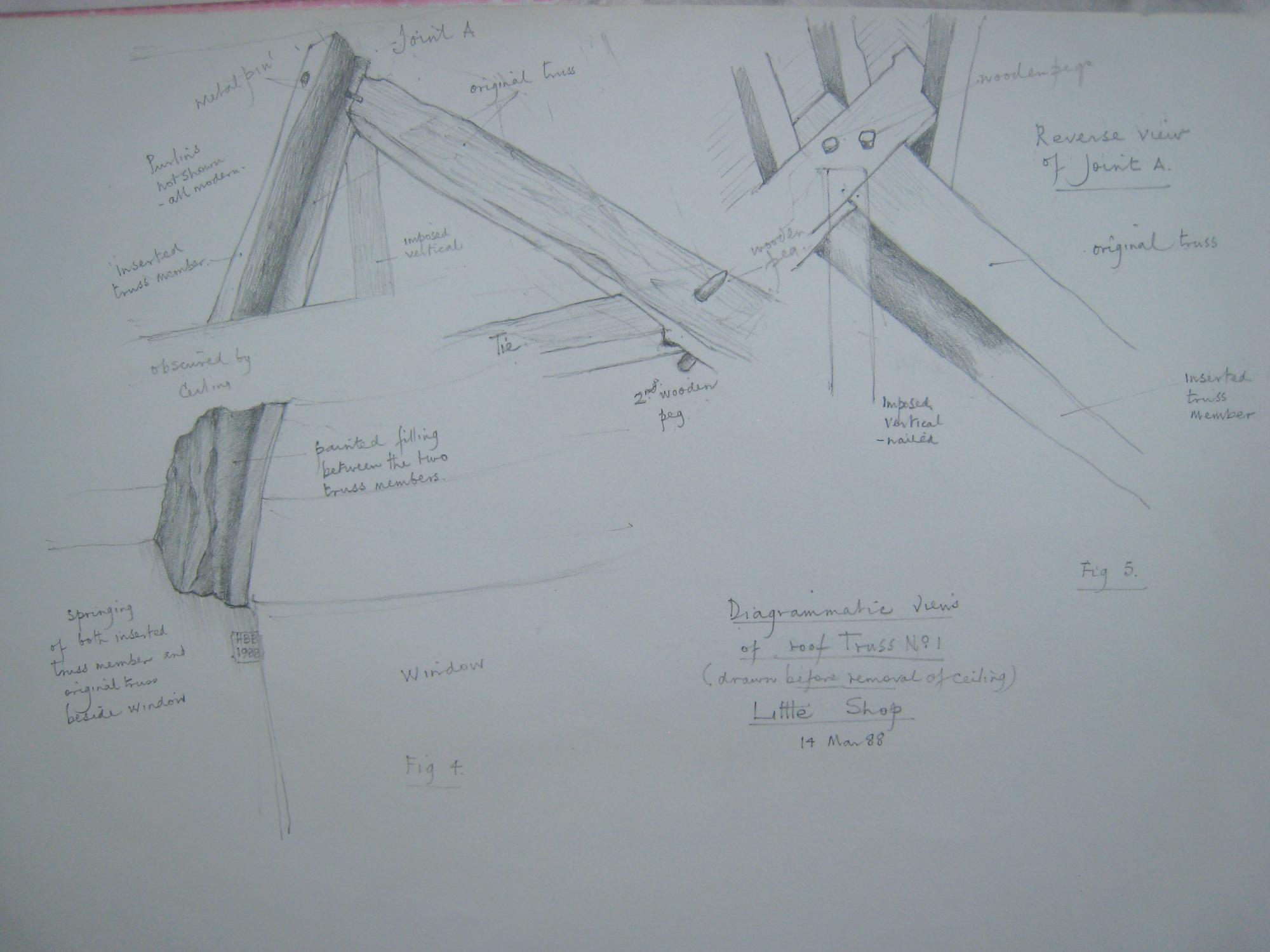 Little Shop: roof truss details 1