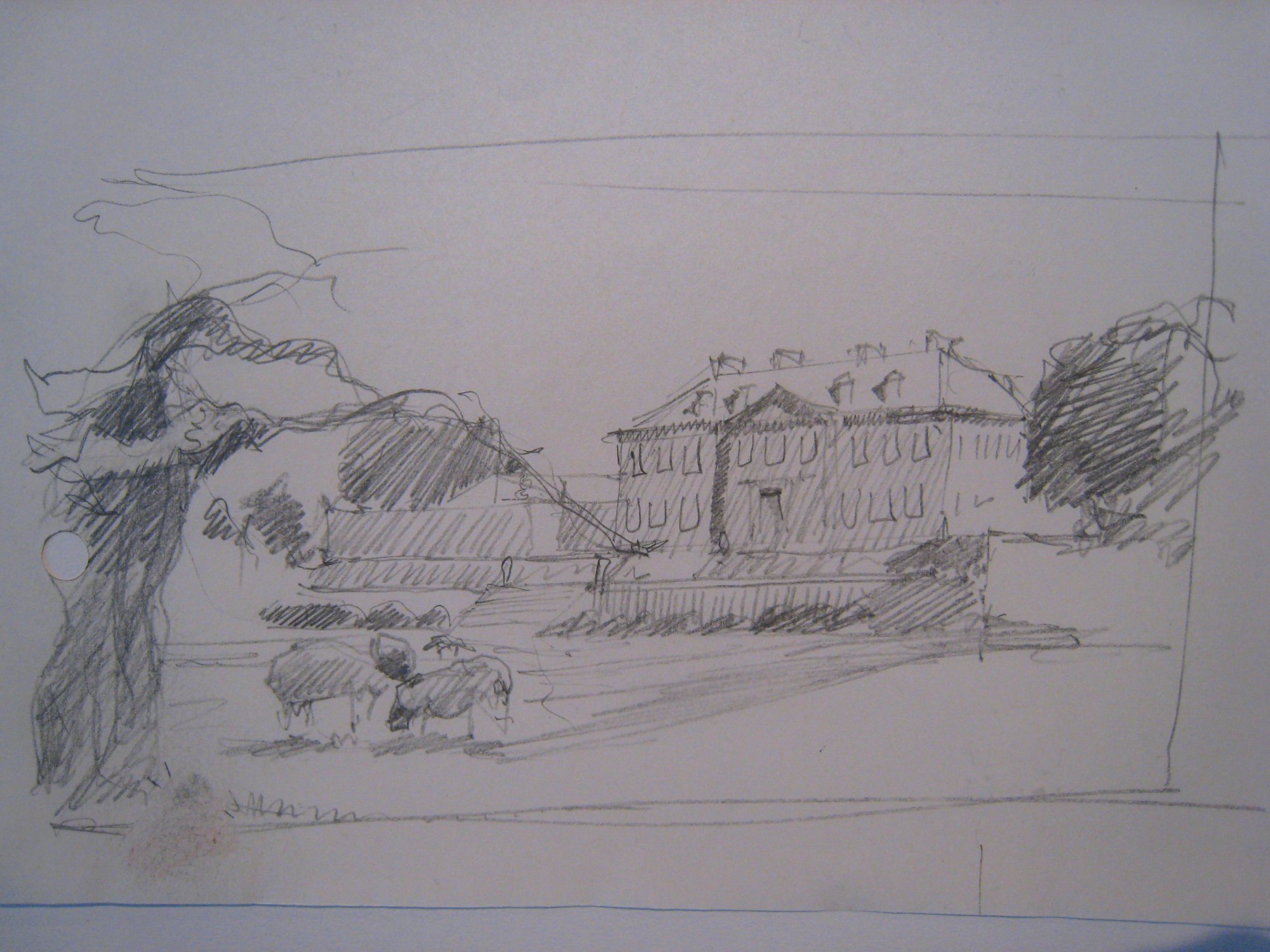 Antony House, Saltash, Cornwall, NT: early sketch
