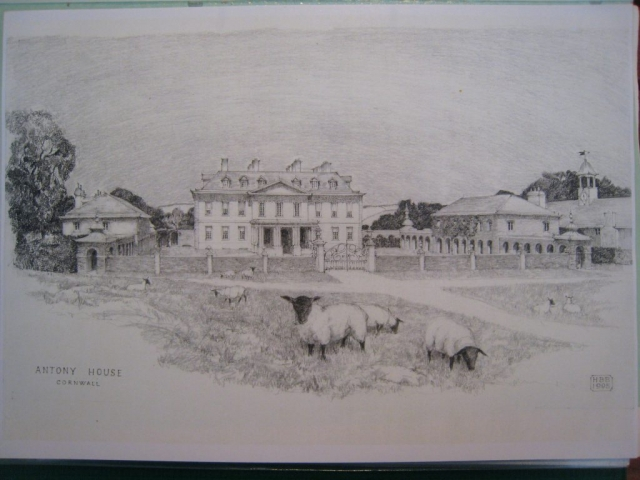 Antony House, Saltash, Cornwall, NT: final drawing