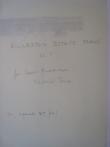 NT Killerton Estate, farm buildings - title page