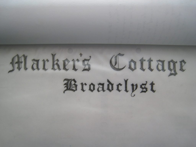Markers Cottage, Broadclyst, National Trust - title page
