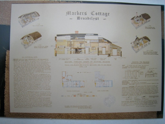 Markers Cottage, Broadclyst, National Trust poster