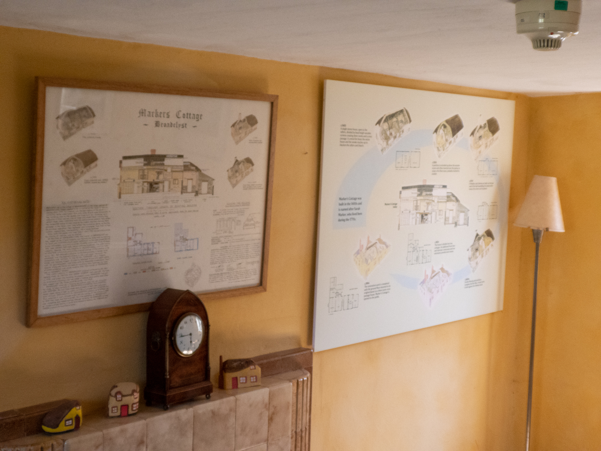 NT Markers CottNT Markers Cottage, Broadclyst, Killerton Estate, old and new interpretation posters in situage, Broadclyst, Killaerton Estate, interpretation posters in situ