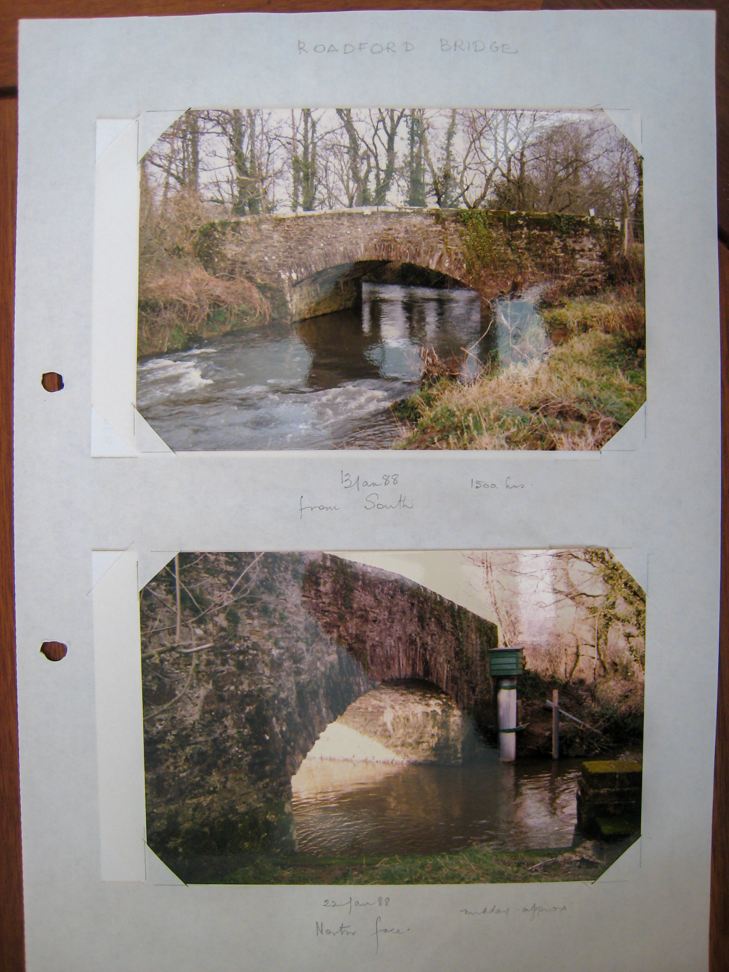 The Bridge over the River Wolf at Roadford, January 1988