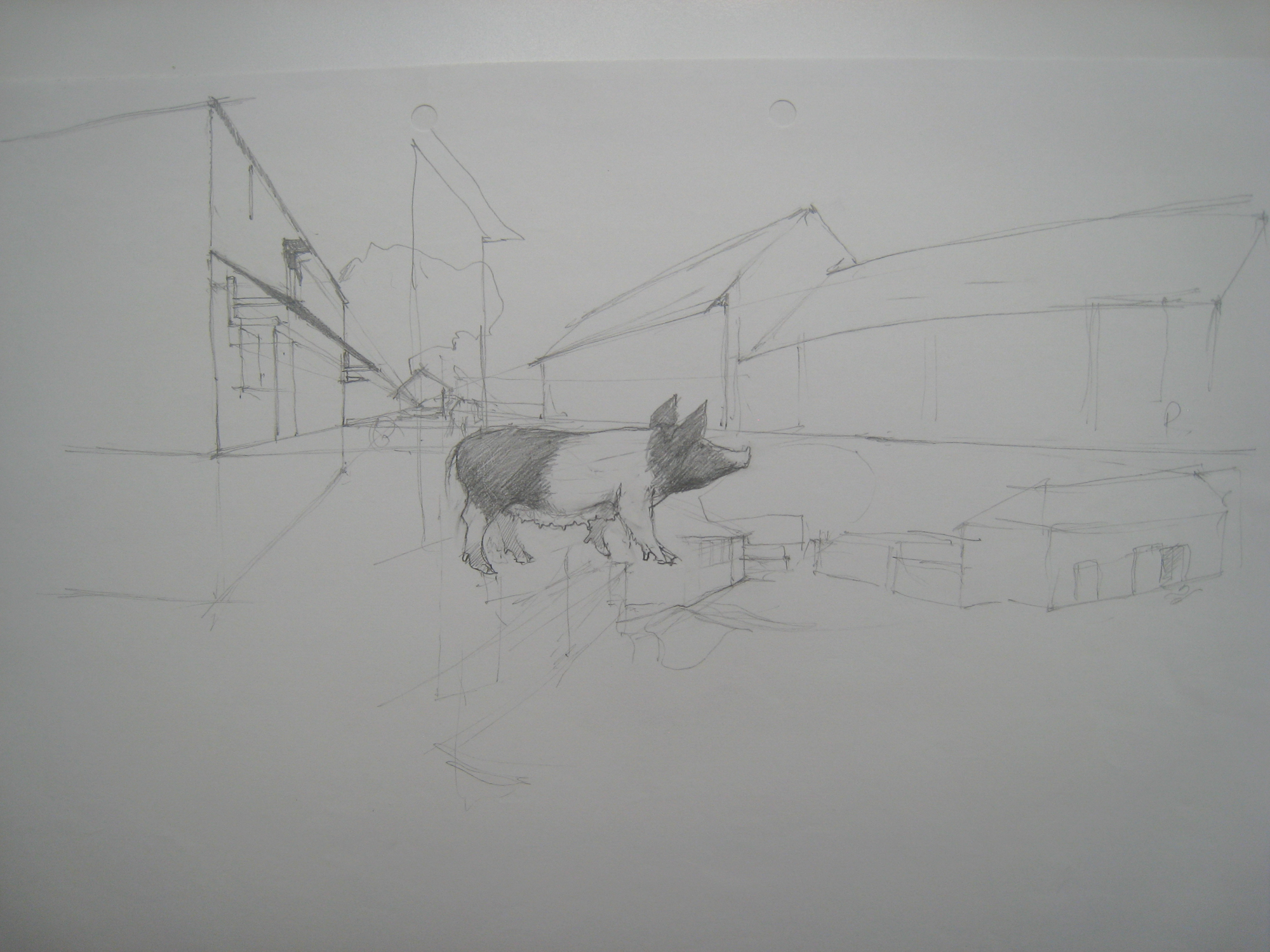 Shop: agricultural buildings sketches with sow