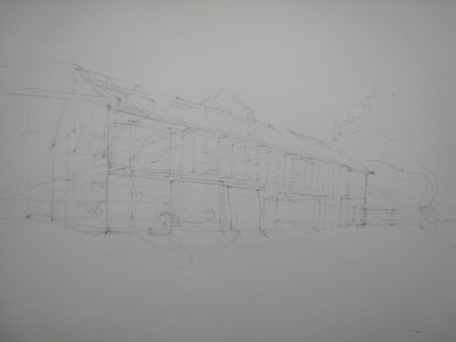 Shop: agricultural buildings sketch with ghost cow