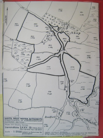 Shop: map from South West Water Authority 1906
