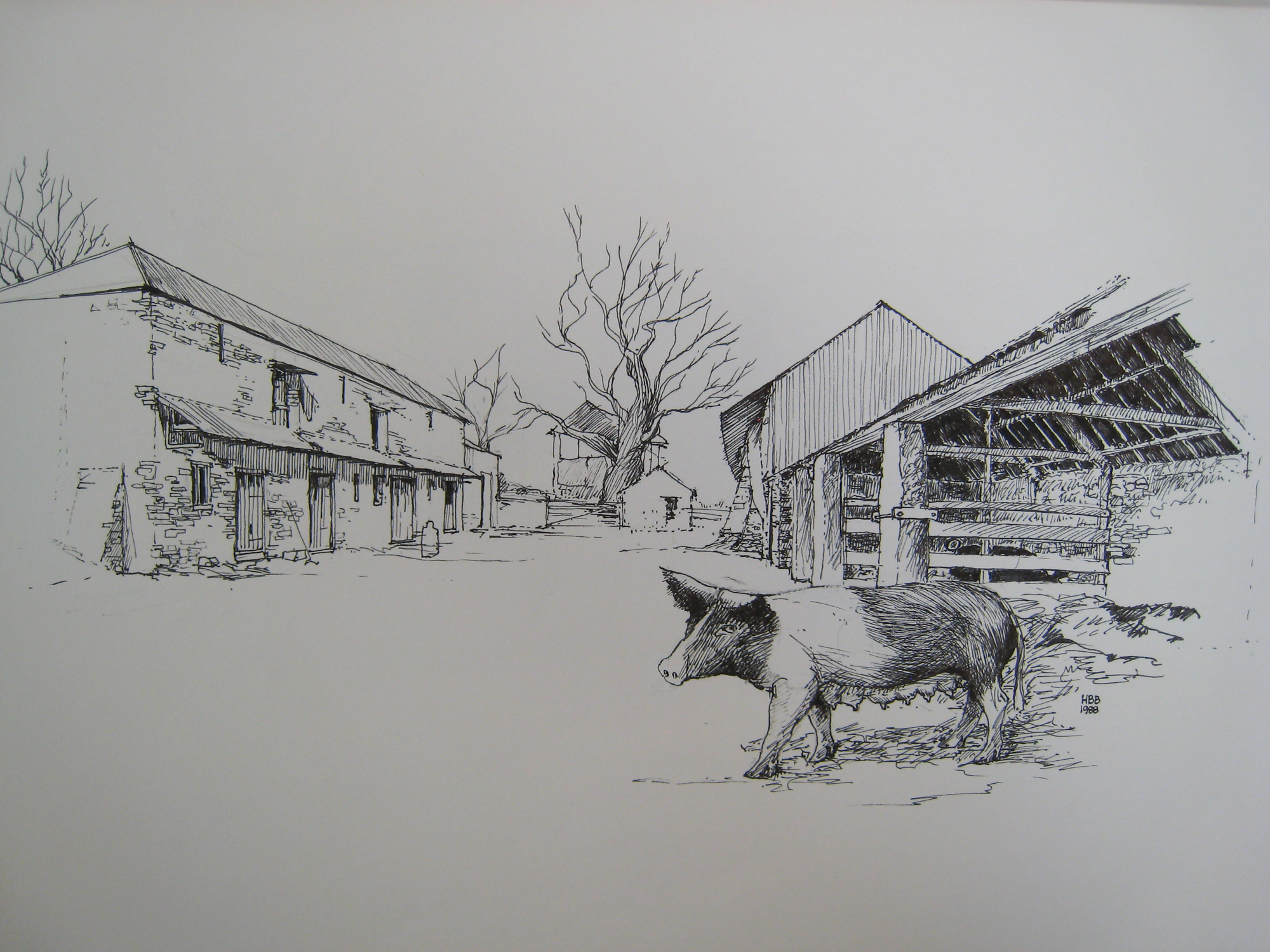 Shop: agricultural buildings drawing with sow