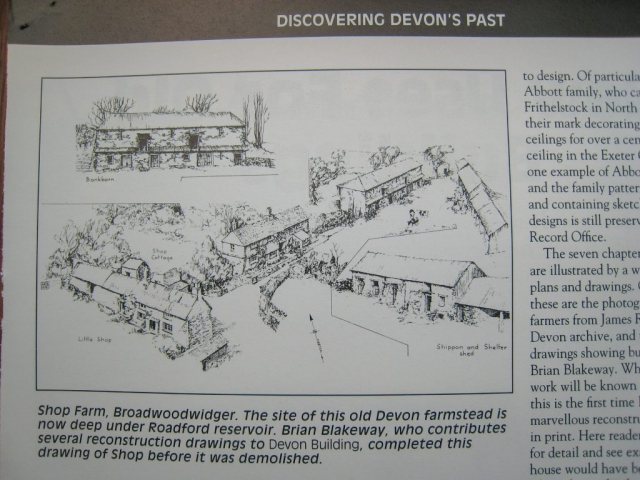 Shop hamlet: reconstruction, from Discovering Devon's Past