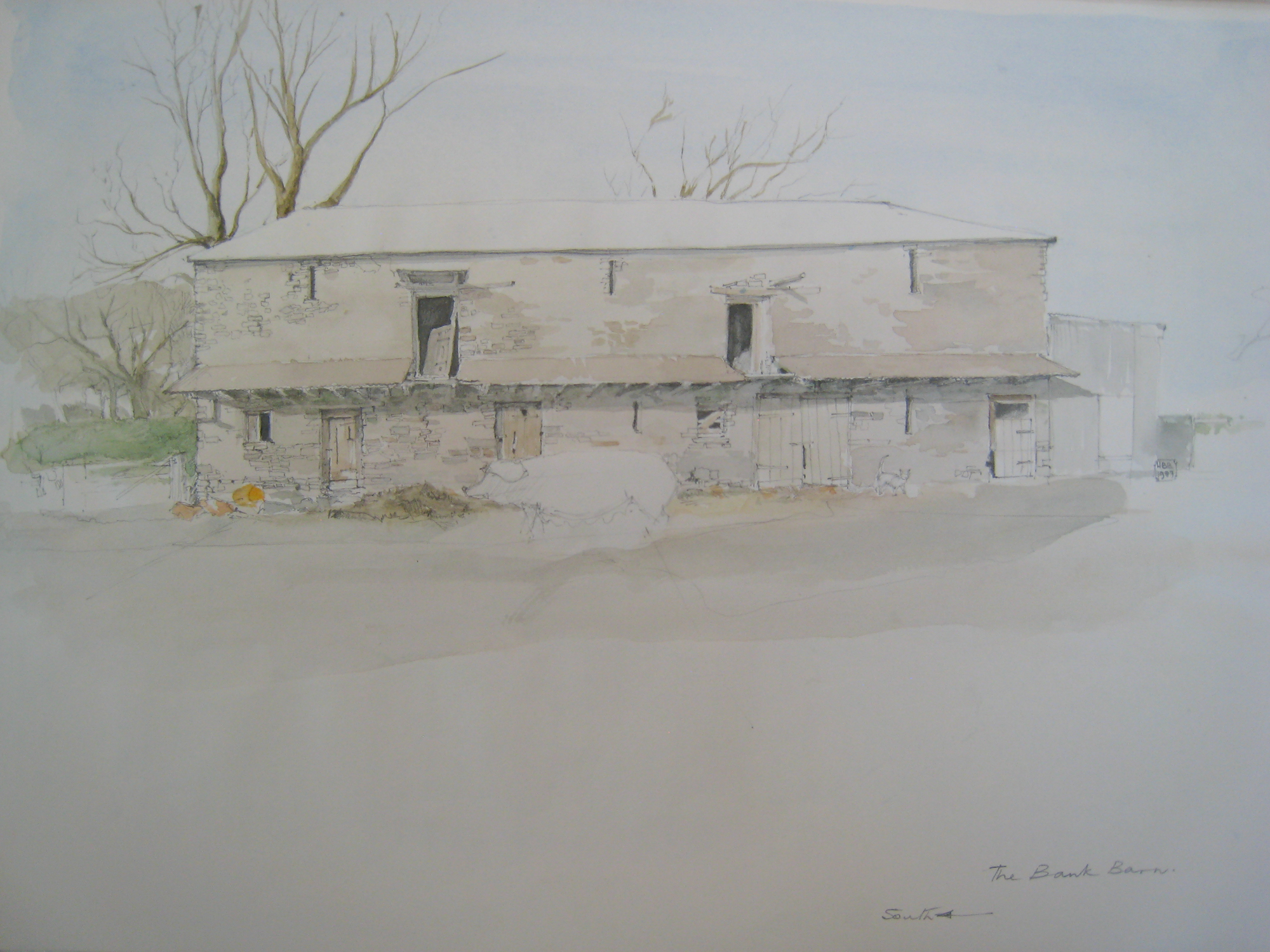 Shop: The Bank Barn painting with sow
